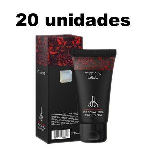 Titan Gel Potenciador Sexual Masculino x 20 Unidades
