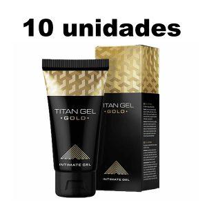 Titan Gel Gold Potenciador Sexual Masculino x 10 Unidades