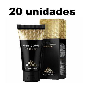 Titan Gel Gold Potenciador Sexual Masculino x 20 Unidades
