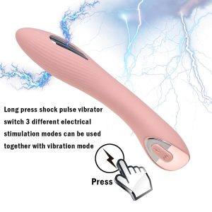 Vibrador Con Estimulador Shock Eléctrico