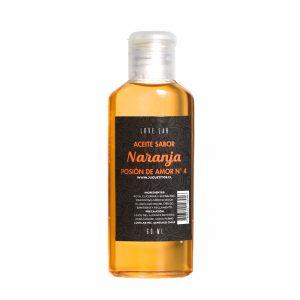 Aceite De Masaje Y Lubricador Con Sabor Naranja