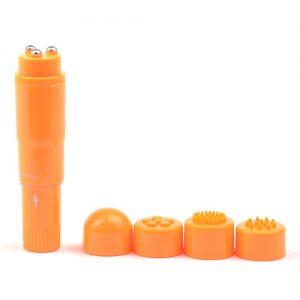 Mini Vibrador Clitorial 4 Cabezales